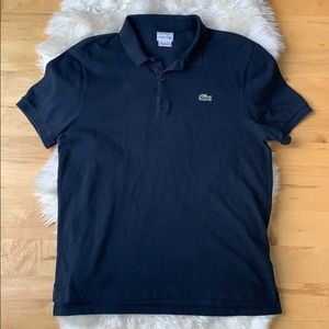 Lacoste men's navy polo, size 6